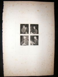 After Joshua Reynolds C1830 Folio. Baretti, Hawksworth, Paterson, Tomkins
